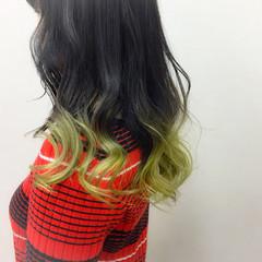 エレガント ロング ブリーチ グラデーションカラー ヘアスタイルや髪型の写真・画像