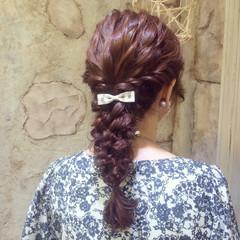 パーティ 波ウェーブ ヘアアレンジ ロング ヘアスタイルや髪型の写真・画像