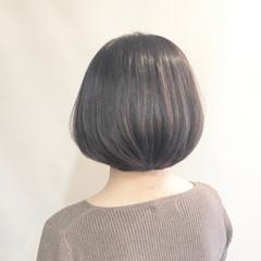 簡単スタイリング ボブ ゆるナチュラル フェミニン ヘアスタイルや髪型の写真・画像