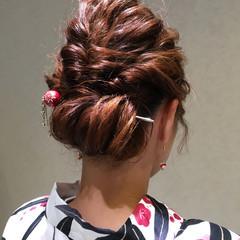 フェミニン ヘアアレンジ ミディアム ヘアスタイルや髪型の写真・画像