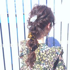 ロング 結婚式 ヘアアレンジ パーマ ヘアスタイルや髪型の写真・画像