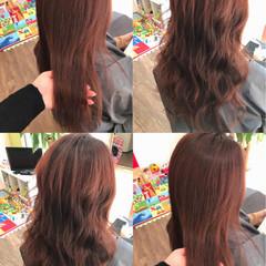 巻き髪 レッド ロング ピンク ヘアスタイルや髪型の写真・画像