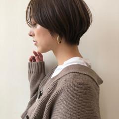 ショートボブ ナチュラル ミニボブ ベリーショート ヘアスタイルや髪型の写真・画像