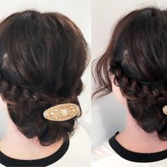 大人かわいい ブラウン ヘアアレンジ 夏 ヘアスタイルや髪型の写真・画像