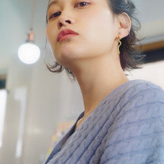 簡単ヘアアレンジ ストリート アンニュイほつれヘア ショートボブ ヘアスタイルや髪型の写真・画像