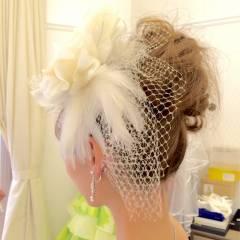 ヘアアレンジ ブライダル コンサバ 結婚式 ヘアスタイルや髪型の写真・画像