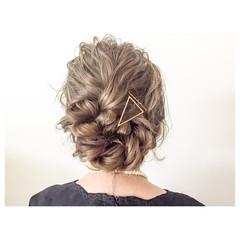 ルーズ ヘアアレンジ ミディアム 簡単ヘアアレンジ ヘアスタイルや髪型の写真・画像