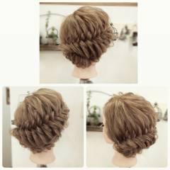 フィッシュボーン パーティ 編み込み ロング ヘアスタイルや髪型の写真・画像