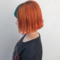 カラーバター ショート ハイトーン ストリート ヘアスタイルや髪型の写真・画像