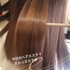 簡単ヘアアレンジ ミディアム ナチュラル 髪質改善トリートメント ヘアスタイルや髪型の写真・画像