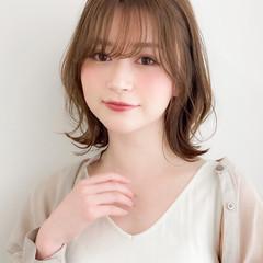 似合わせカット 簡単ヘアアレンジ 透明感カラー 外ハネボブ ヘアスタイルや髪型の写真・画像