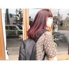赤髪 ナチュラル レッド ロング ヘアスタイルや髪型の写真・画像