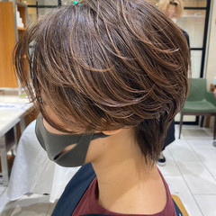 ハンサムショート ベージュカラー ショートボブ ショートヘア ヘアスタイルや髪型の写真・画像