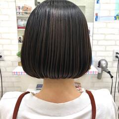 オフィス デート フェミニン ボブ ヘアスタイルや髪型の写真・画像