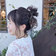 ゆるふわ デート 簡単ヘアアレンジ ウェーブ ヘアスタイルや髪型の写真・画像