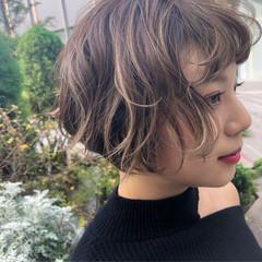 デート ナチュラル 透明感 ハイライト ヘアスタイルや髪型の写真・画像