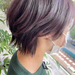 ウルフカット バイオレット ストリート バイオレットカラー ヘアスタイルや髪型の写真・画像