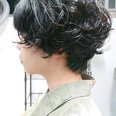 簡単スタイリング ナチュラル ショート パーマ ヘアスタイルや髪型の写真・画像