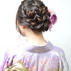 ヘアアレンジ ねじり アップスタイル ミディアム ヘアスタイルや髪型の写真・画像