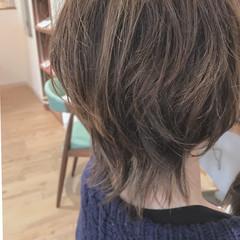 モード ボブ くせ毛風 マッシュウルフ ヘアスタイルや髪型の写真・画像