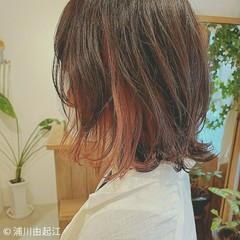 切りっぱなしボブ デートヘア ミディアム モード ヘアスタイルや髪型の写真・画像