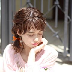 女子会 ミディアム ヘアアレンジ 結婚式 ヘアスタイルや髪型の写真・画像