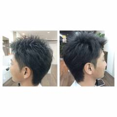 刈り上げ 坊主 前髪なし 黒髪 ヘアスタイルや髪型の写真・画像