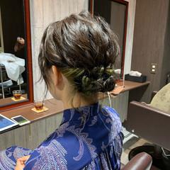 フェミニン ショート ヘアアレンジ 結婚式 ヘアスタイルや髪型の写真・画像