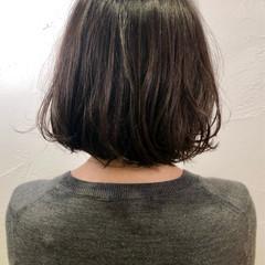 ボブ 大人女子 くせ毛風 大人かわいい ヘアスタイルや髪型の写真・画像