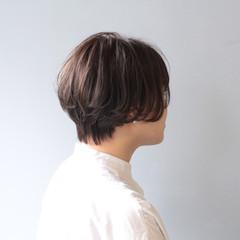 黒髪 ショートボブ ショート ナチュラル ヘアスタイルや髪型の写真・画像