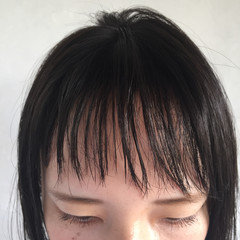 ショートバング ショート 抜け感 ナチュラル ヘアスタイルや髪型の写真・画像