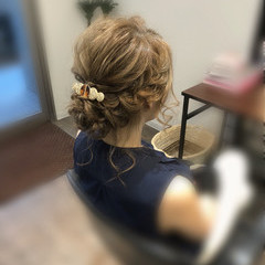 フェミニン 結婚式 アップスタイル 和装 ヘアスタイルや髪型の写真・画像