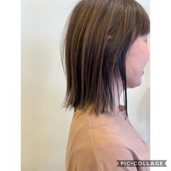 切りっぱなしボブ 前髪 前髪パッツン 前髪あり ヘアスタイルや髪型の写真・画像