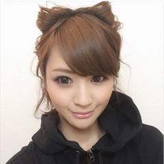 猫耳 簡単ヘアアレンジ ボブ ヘアアレンジ ヘアスタイルや髪型の写真・画像