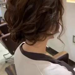 セミロング ナチュラル 結婚式ヘアアレンジ お呼ばれヘア ヘアスタイルや髪型の写真・画像