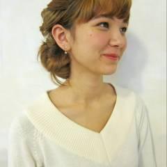 フェミニン モテ髪 ヘアアレンジ コンサバ ヘアスタイルや髪型の写真・画像