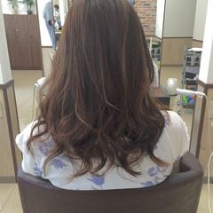 セミロング フェミニン 大人かわいい パープル ヘアスタイルや髪型の写真・画像