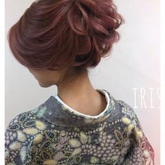 簡単ヘアアレンジ ナチュラル 成人式 ロング ヘアスタイルや髪型の写真・画像