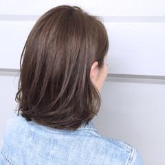 グラデーションカラー ハイライト アッシュ ボブ ヘアスタイルや髪型の写真・画像