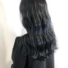 ダークカラー ナチュラル ネイビーブルー 暗髪女子 ヘアスタイルや髪型の写真・画像