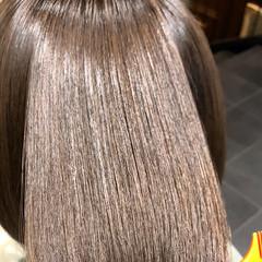 ボブ 髪質改善トリートメント 最新トリートメント ナチュラル ヘアスタイルや髪型の写真・画像