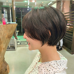 ミニボブ ショートボブ フェミニン ベリーショート ヘアスタイルや髪型の写真・画像