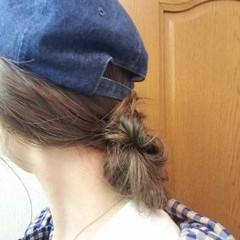 ミディアム ゆるふわ ストリート セルフヘアアレンジ ヘアスタイルや髪型の写真・画像