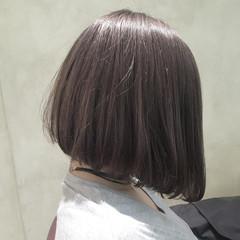 外国人風 ボブ ハイライト 簡単ヘアアレンジ ヘアスタイルや髪型の写真・画像