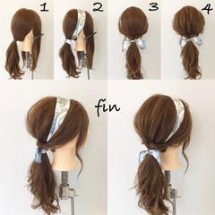 ヘアアレンジ リラックス ロング ヘアアクセ ヘアスタイルや髪型の写真・画像