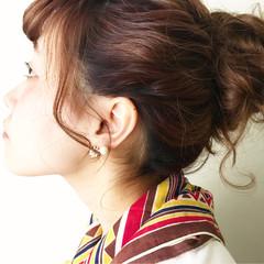 簡単ヘアアレンジ 夏 ロング ショート ヘアスタイルや髪型の写真・画像