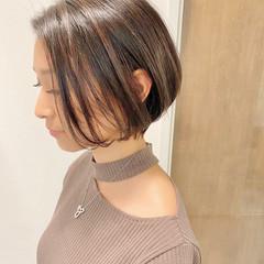大人かわいい ショートボブ ショート デート ヘアスタイルや髪型の写真・画像