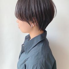 ハンサムショート ナチュラル 黒髪ショート ベリーショート ヘアスタイルや髪型の写真・画像