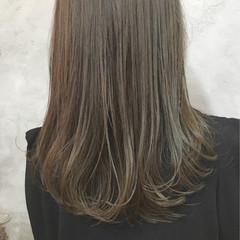 セミロング 女子会 ワンカール 暗髪 ヘアスタイルや髪型の写真・画像
