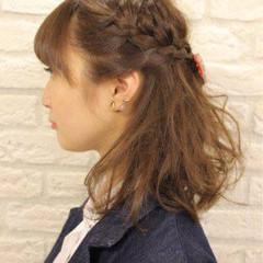 ヘアアレンジ ショート ミディアム 簡単ヘアアレンジ ヘアスタイルや髪型の写真・画像